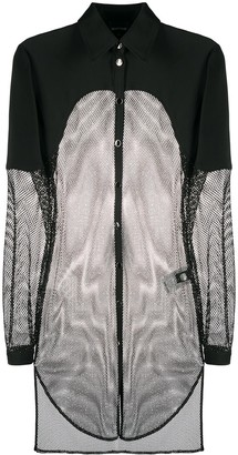 Just Cavalli Mesh Oversized Shirt