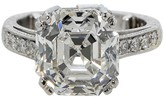 Platinum & 7.17ct Diamond Engagemnet Ring Size 6