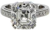 Platinum & 7.17ct Diamond Engagemnet Ring Size 6
