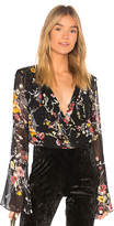 Band of Gypsies Abstract Floral Bouquet Bodysuit