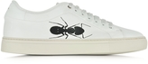 Paul Smith Basso Off-White Leather Trainers w/Large Ant Print
