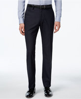 Kenneth Cole Reaction Men's Blue Checked Slim-Fit Dress Pants