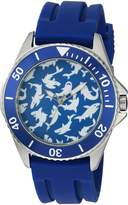 EWatchFactory Men's 'Shark Week' Quartz Stainless Steel and Rubber Sport Watch, Color: (Model: WDC000071)