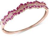 Effy Rosa by Ruby (4-3/8 ct. t.w.) and Diamond (3/4 ct. t.w.) Bangle Bracelet in 14k Rose Gold