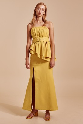 C/Meo SILENCED GOWN yellow