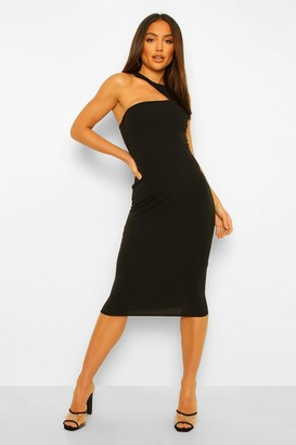 boohoo Tailored Cut Out Sleeveless Midi Dress