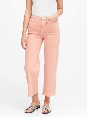Banana Republic High-Rise Wide-Leg Cropped Jean