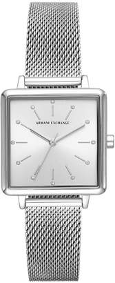 Armani Exchange Women Lola Stainless Steel Mesh Bracelet Watch 30mm
