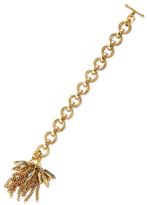 Elizabeth Cole Crystal Fringe Station Bracelet