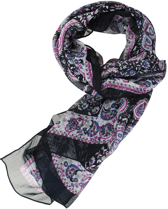 Forever 21 H81 Paisley Chiffon Scarf