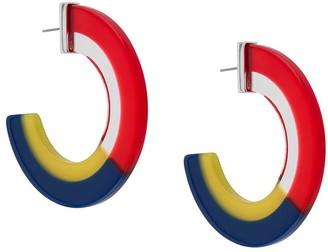 Karl Lagerfeld Paris Bauhaus colour-block large hoop earrings