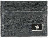 Dolce & Gabbana crown logo plaque cardholder - men - Leather - One Size