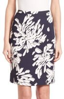 BOSS Veala Printed Pencil Skirt