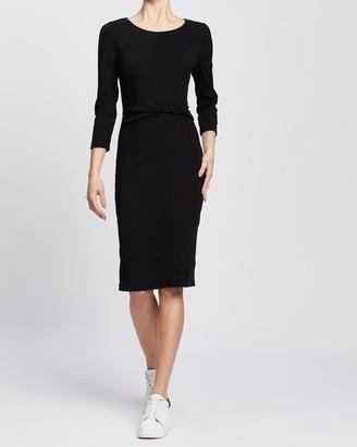 Spurr Julie Twist Rib Midi Dress
