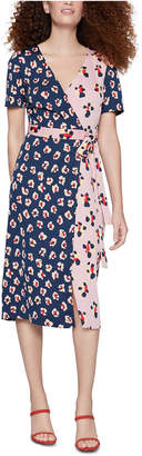 BCBGeneration Floral-Print Midi Wrap Dress
