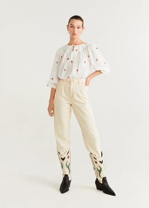 MANGO Embroidered details blouse