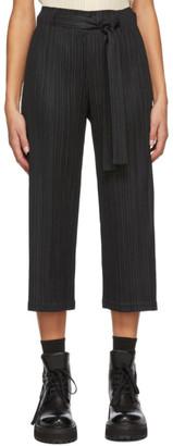 Pleats Please Issey Miyake Black Tie Trousers