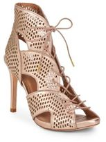 Joie Elvie Perforated Leather Lace-Up Booties