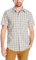 Nautica Men's Classic Fit Wrinkle Resistant Plaid Short Sleeve Shirt