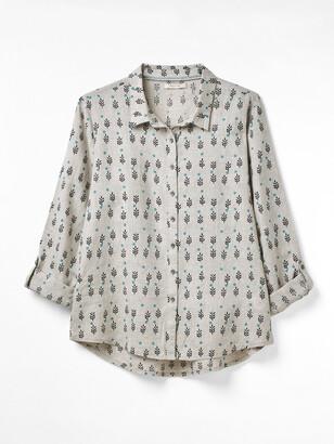 White Stuff Amelie Printed Linen Shirt