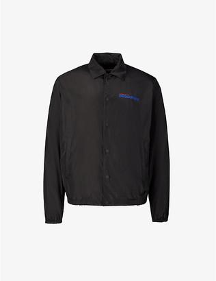 DSQUARED2 x OVO brand-print shell jacket