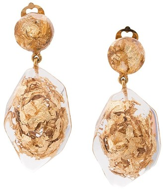 Oscar de la Renta Nugget Earrings