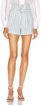 Frame Casual Linen Short in Chambray Multi | FWRD