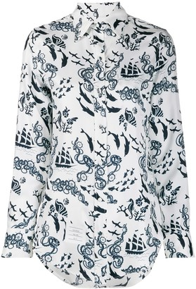 Thom Browne Nautical Print Shirt