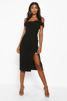 boohoo Tall Off The Shoulder Midi Dress
