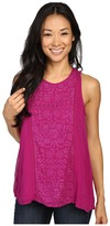 Lucky Brand Pop Color Embroidered Tank Top