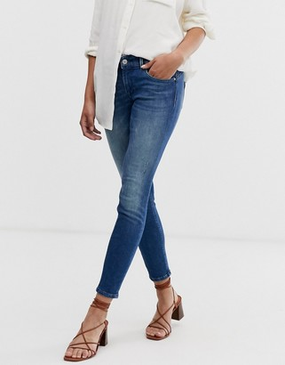 Only Dylan low rise skinny jeans-Blue
