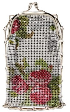 Paco Rabanne Pixel 1969 Mini Rose-print Chainmail Bag - Silver Multi