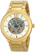 Android Men's AD509BG Radius Skeleton Automatic Gold Tone Bracelet Watch