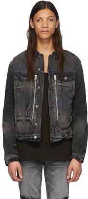 Amiri Black MX2 Trucker Jacket