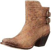 Lucchese Classics Women's Catalina-Brown Floral Printed Shortie Ankle Bootie