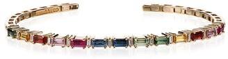 Suzanne Kalan 18K gold multicoloured diamond and sapphire bracelet