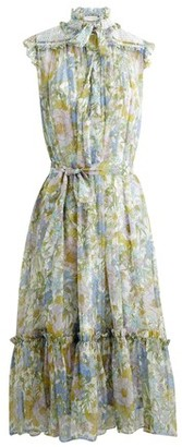 Zimmermann Super Eight silk midi dress