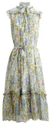 Zimmermann Super Eight silk midi dress
