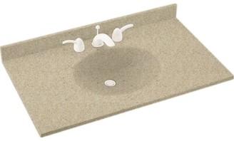 """Swan Ellipse Solid Surface 61"""" Single Bathroom Vanity Top Top Finish: Prairie"""
