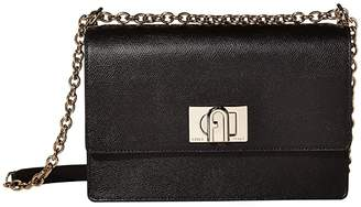 Furla 1927 Small Crossbody 24 (Nero) Handbags
