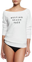 Milly Resting Beach Face Sweatshirt, White