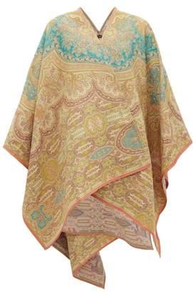 Etro Mantella Paisley-jacquard Wrap - Womens - Green Multi