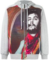 Les Benjamins printed zipped hoodie