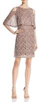 Aidan Mattox Tiered Embellished Cold-Shoulder Dress