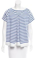 Sacai Striped Knit Top