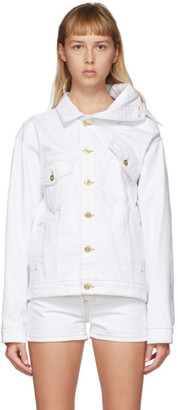 Y/Project White Asymmetric Collar Jacket