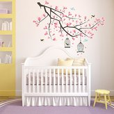 Wallflexi Wall Stickers Branch Cherry Blossom Wall Art Murals Removable Self-Adhesive Decals Office Home Decoration, Multi-Colour