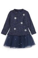 Kate Mack Infant Girl's 'Style Prodigy' Embellished Tulle Hem Sweater Dress