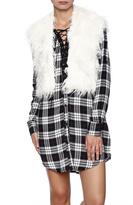BB Dakota Crop Furry Vest