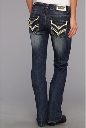 Rock and Roll Cowgirl Mid-Rise in Dark Vintage W1-3434 (Dark Vintage) Women's Jeans